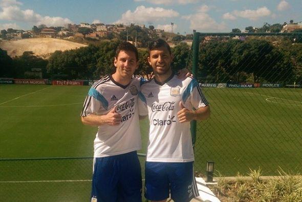 Messi y Aguero