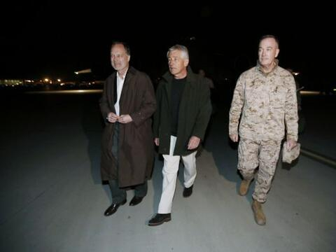 El nuevo secretario de Defensa de Estados Unidos, Chuck Hagel, llegó a A...