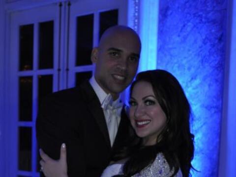 Amanda Ramírez y su esposo Roberto festejaron sus nupcias con una...