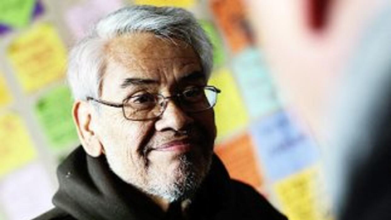 El sindicalista Eliseo Medina, uno de los 15 activistas que están a bord...