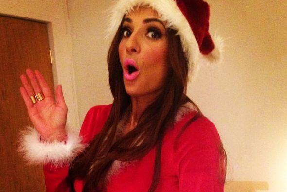 Cecilia Galeano ya está muy a doc para la cena navideña, &...