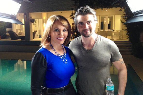 La entrevista se realizó en la piscina de su casa.