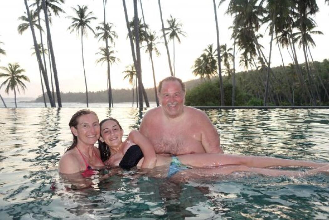 Toda la familia estuvo reunida para disfrutar de un tiempo de relajación...