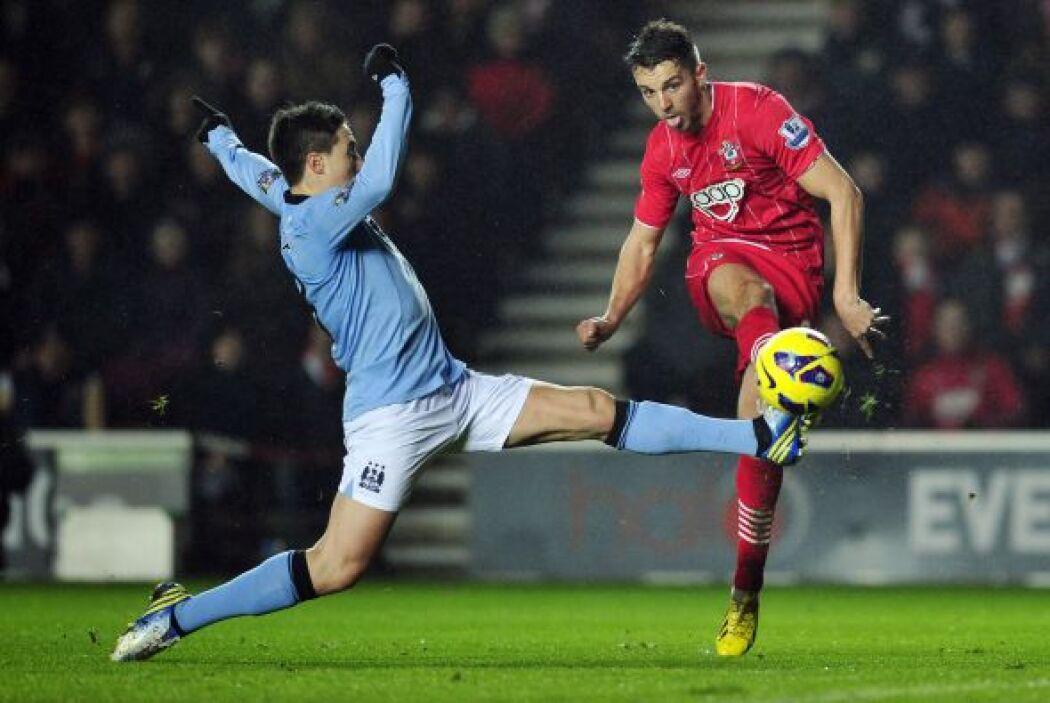 El City dominaba pero el Southampton llevaba más peligro.