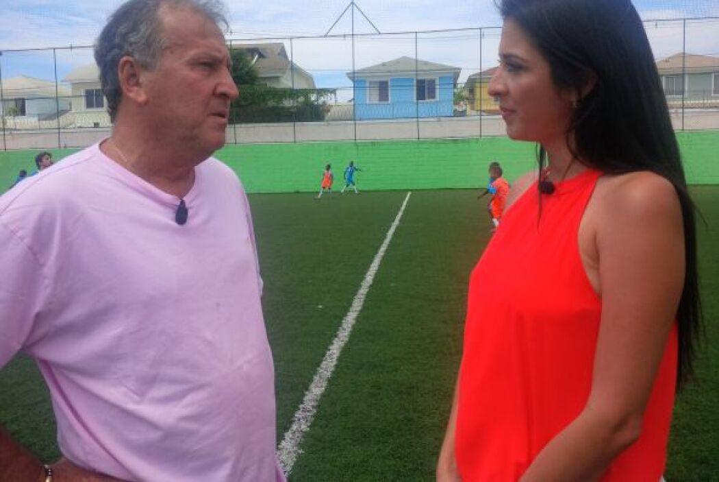 Maity visitó la escuela de fútbol de Zico. Un proyecto que nació algunos...