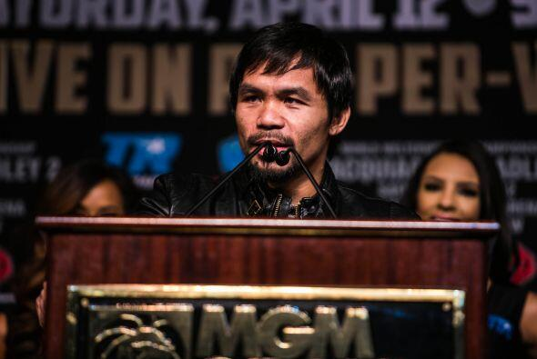 Manny Pacquiao dejó ver que de perder su carrera estaría en el final (Fo...