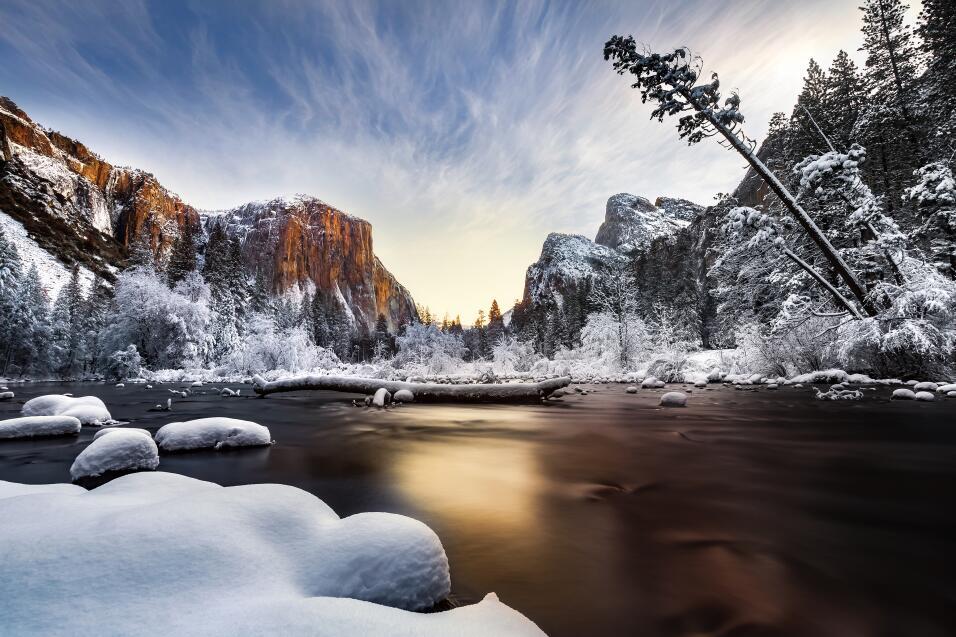 'Mañana de Navidad en el Merced'. Fotografía del río Merced tomada en el...