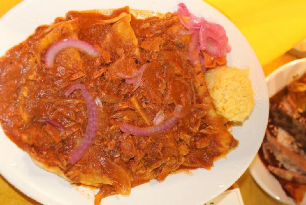 También había enchiladas yucatecas. Con salsa de cochinita pibil.