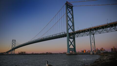 El futuro puente Gordie Howe entre Windsor y Detroit será un refu...