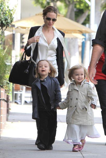 Knox Leon y Vivienne Marcheline Jolie-Pitt nacieron un 12 de julio de 20...