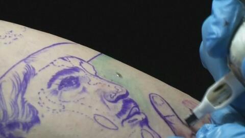 Imágenes de la exposición anual de tatuajes que se realiza en Caracas, V...