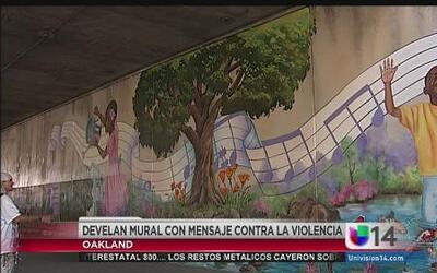 Develan mural de artista asesinado