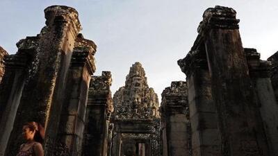 Las ruinas de Angkor son patrimonio de la humanidad.