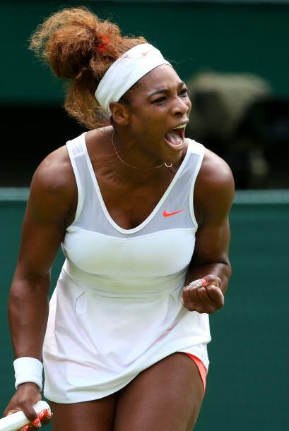 La favorita al título, la estadounidense Serena Williams, sell&oa...