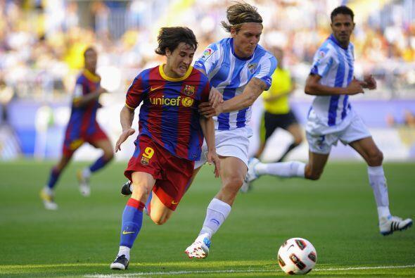 Bojan fue de lo mejor en el Barcelona. Se movió por todo el frent...