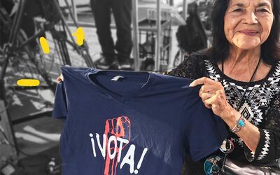 Dolores Huerta estuvo en el concierto 'RaiseUp as one' para segu...