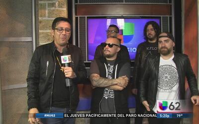 Los roqueros peruanos GAIA visitan los estudios de Univision