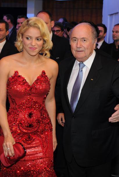 Pero desués de ese momento, Blatter dijo ''Ella es mía''.