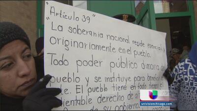 Mexicanos en Chicago piden renuncia de Peña Nieto