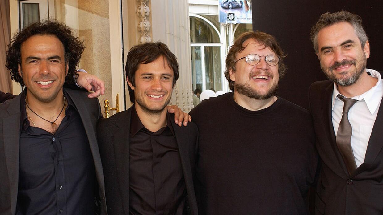 Los directores Alejandro G. Iñárritu, Guillermo del Toro y Alfonso Cuaró...
