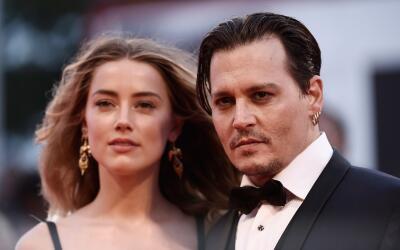 Johnny Depp y Amber Heard en Venecia