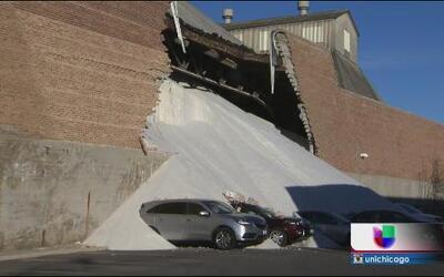 Colapsa pared en depósito de Morton Salt