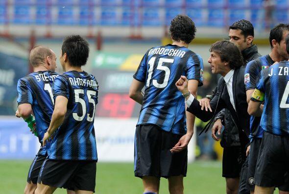 Pero el Inter se repuso y llegó al empate con un gol del holand&e...