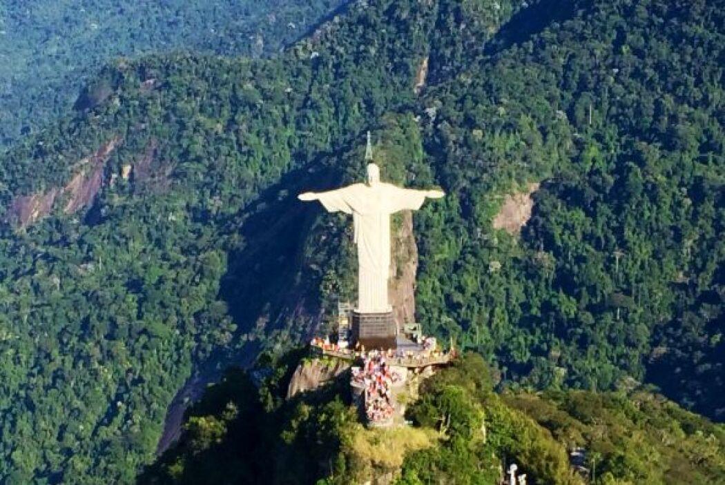 El Gordo pudo tomar una impresionante fotografía del Cristo Redentor.
