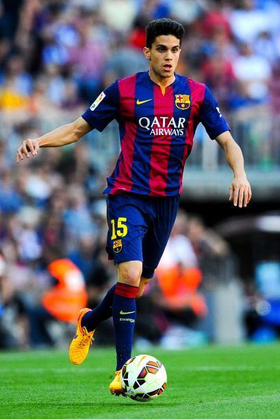 El defensa canterano del Barcelona Marc Bartra es pretendido por el Tott...