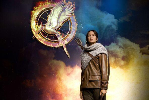 Está ataviada como al inicio de 'Catching Fire', antes de regresa...