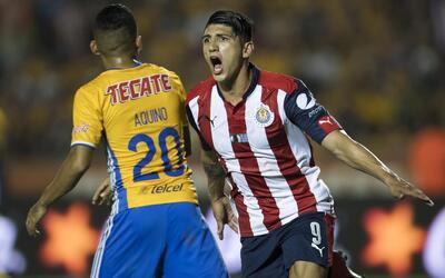 Alan Pulido festejó con este grito el 1-0 de la final ante Tigres.