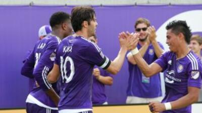 Orlando City celebra un gol ante LA Galaxy