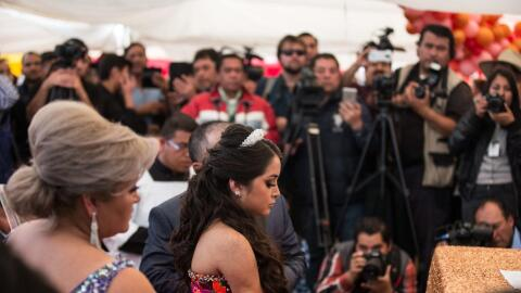 Rubi's 15th birthday party was besieged by media cameras