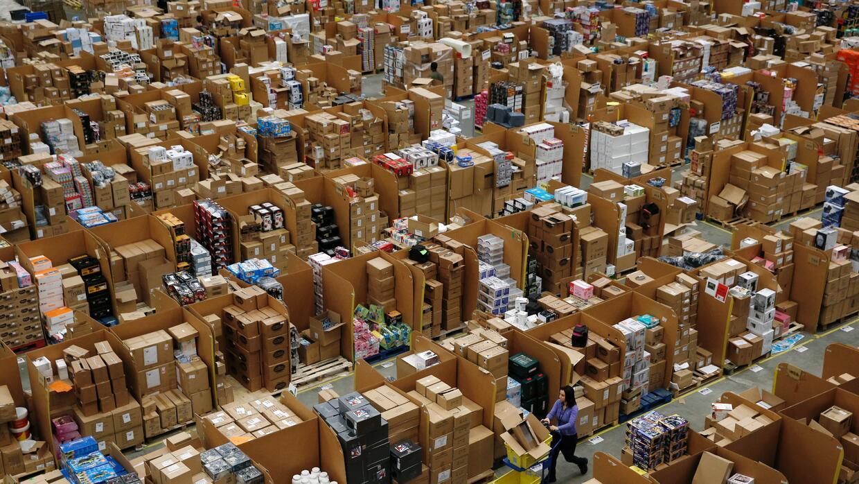 Un almacén de Amazon en el Reino Unido