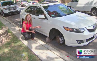 Preocupa ola de robos de llantas en barrios latinos de Chicago
