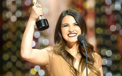 Maite Perroni celebró a lo grande su triunfo en los TVyNovelas 2016