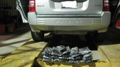 Autoridades confiscaron 33 libras de narcóticos, valorados en 46,...