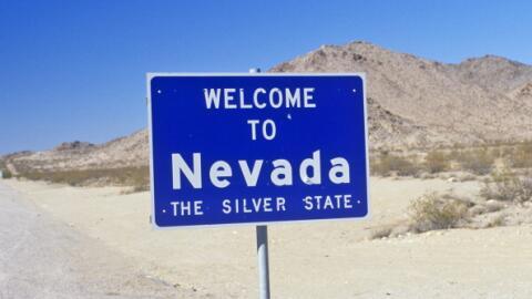 Cartel de Nevada en carretera