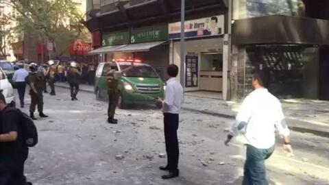 Varias personas heridas por derrumbe parcial de un edificio en Chile