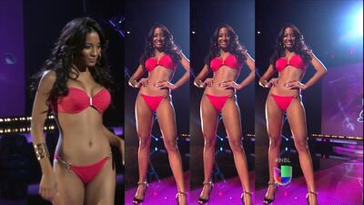 Desfile en bikini de las 30 chicas que recibieron el pase de Nuestra Bel...