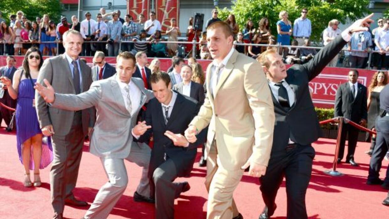 Dan, Gordie, Rob y Glenn, arrivando a la entrega de los premios ESPY.