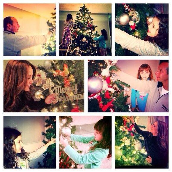 """""""#Listo!! #FamilyTime #FelicesFiestas!!!"""", compartió An..."""