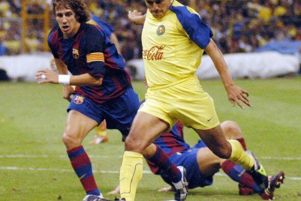 """Aquella noche las Águilas vencieron al Barcelona de """"Dinho"""" con goles de..."""