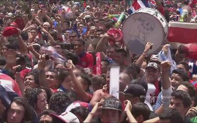 Los Ticos están de fiesta por la victoria de Costa Rica