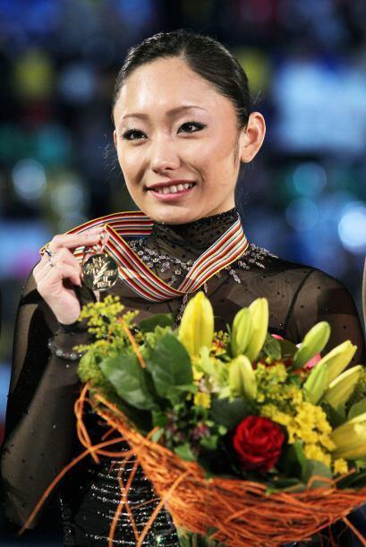 Tras completar un soberbio programa libre la japonesa Miki Ando dedic&oa...
