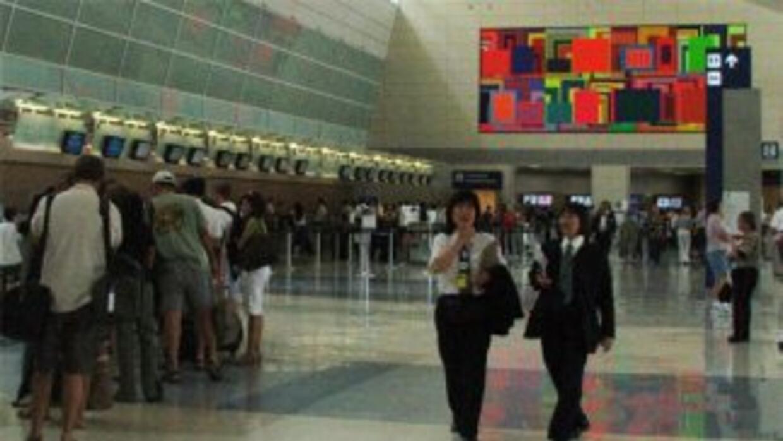 Todo en calma en la Terminal D del aeropuerto internacional DFW