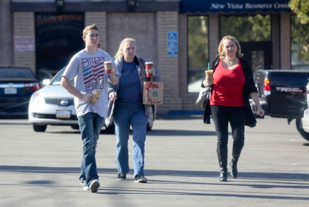 La familia de Walker se detuvo a comprar un café antes de llegar a la ca...