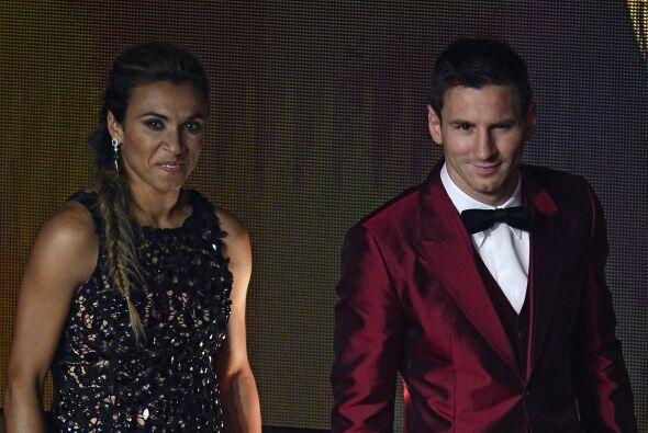 Lionel Messi tampoco podía faltar, aquí se ve al lado de l...