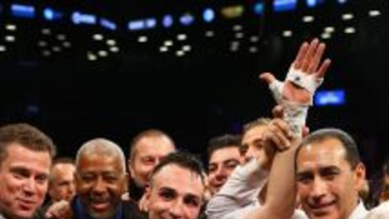 Paulie Malignaggi terminó con el brazo levantado su pelea contra Zab Judah.