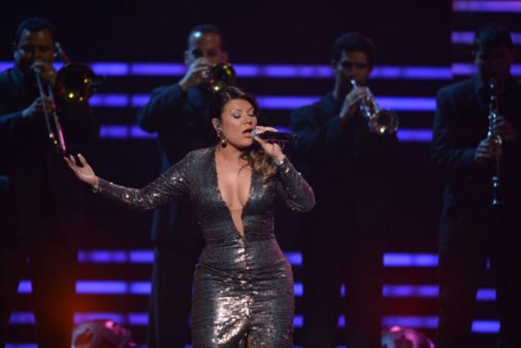 Diana Reyes interpretó el tema 'Inolvidable'.